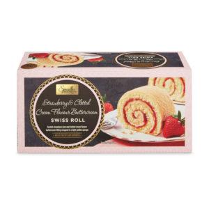 Aldi Swiss Roll fraise