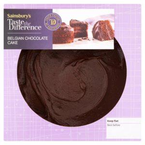 Sainsbury's Belgian chocolate cake (S)