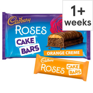 Cadbury Roses Cake Bars Orange Creme