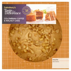 Sainsbury's Colombian coffe & walnut cake