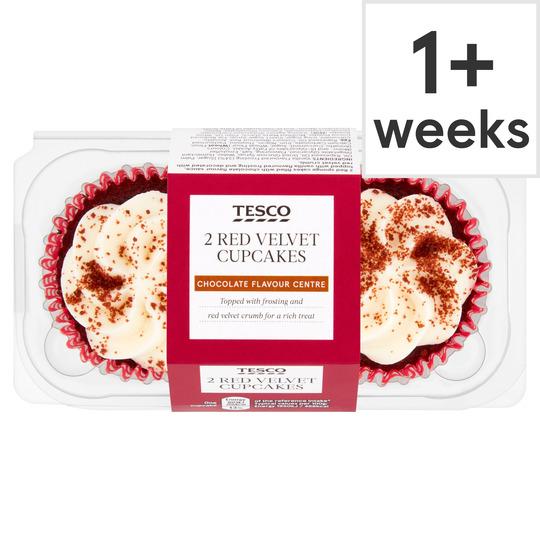 Tesco Red Velvet Cupcake 2pc