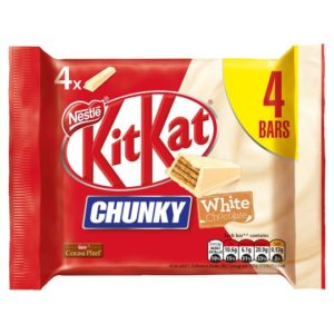 kitkat Chunky white Chocolate 4 Bars