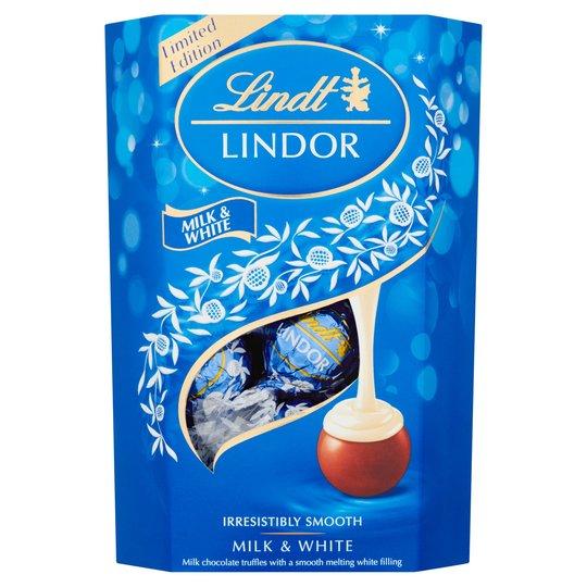 Lindt Lindor Milk and White 200gr
