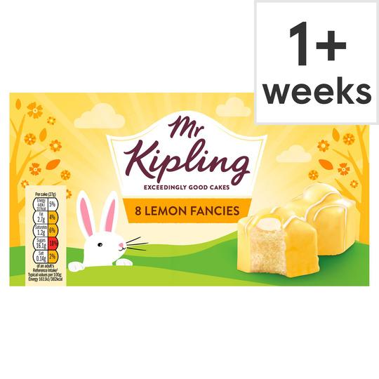 Mr Kipling 8 lemon fancies