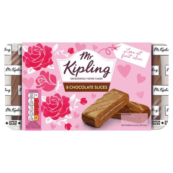 Mr Kipling 8 chocolate slices