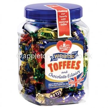 Walkers Assorted Toffees Jar 450gr